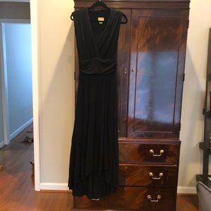 Anthropologie Long Black Jersey Dress